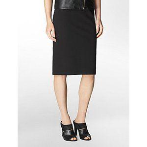 BCBG Wool Black Classic Pencil Skirt